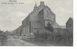 HAVERSIN  L' école Et Route Vers La Gare. - Ciney