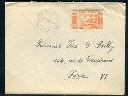 Nouvelles Hébrides - Enveloppe De Port Villa Pour Paris En 1946 , Affranchissement Plaisant -  Réf J126 - Brieven En Documenten