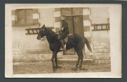CPA Photo Guillaume BOBILLON Cavalier Militaire Sur Son Cheval Cliché ANAIS (16) - Postcards