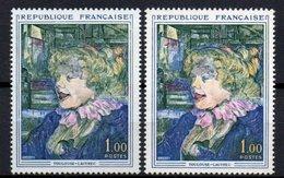 - FRANCE Variété N° 1426f - 1 F. Toulouse-Lautrec 1964 - LEVRES NOIRES - - Plaatfouten En Curiosa