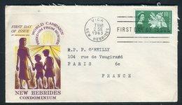 Nouvelles Hébrides - Enveloppe FDC En 1963 Pour Paris -  Réf J127 - FDC