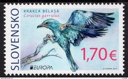 Slovaquie 2019 EUROPA  Oiseau Le Rollier D'Europe Coracias Garrulus - Slowakije