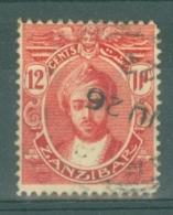 Zanzibar: 1921/29   Sultan Kalif Bin Harub    SG284   12c   Carmine-red   Used - Zanzibar (...-1963)