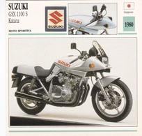 MOTO SPORTIVA SUZUKI GSX 1100 S KATANA GIAPPONE 1980 DESCRIZIONE COMPLETA SUL RETRO AUTENTICA 100% - Advertising