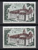 - FRANCE Variété N° 1726d ** - 2 F. Château De Bazoches-du-Morvand 1972 - TOITS VERTS - - Plaatfouten En Curiosa
