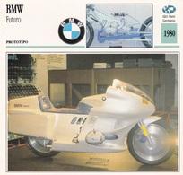 PRTOTIPO BMW FUTURO ALTRI PAESI GERMANIA 1980 DESCRIZIONE COMPLETA SUL RETRO AUTENTICA 100% - Advertising