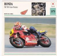 MOTO DA CORSA HONDA NR 500 GRAN PREMIO GIAPPONE 1979 DESCRIZIONE COMPLETA SUL RETRO AUTENTICA 100% - Advertising