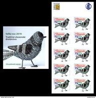 Slovaquie 2019 PAQUES EASTER  Le Carnet De 10 Timbres ND Oiseau En Fer Blanc Ferblanterie Traditionnelle - Slowakije