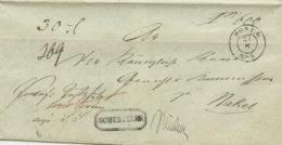1853 POSEN Paketbegleit Bf M. Paketzettel N. Nakel - [1] ...-1849 Préphilatélie