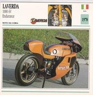 MOTO DA CORSA LAVERDA 1000 6V ENDURANCE  ITALIA 1978 DESCRIZIONE COMPLETA SUL RETRO AUTENTICA 100% - Advertising