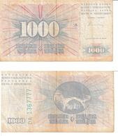 Bosnie-Herzégovine 1000 Dinara - Bosnië En Herzegovina