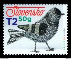 Slovaquie 2019 PAQUES EASTER  Oiseau En Fer Blanc Ferblanterie Traditionnelle - Slowakije