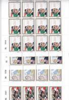 Lebanon, 2006  R. Rafic El Hariri Death Ann. Complete Sedt Of 4 Stamps In UNFOLDED Sheets Of 20 Stamps Eachj- MNH-SKRILL - Lebanon