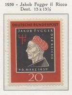 PIA - GERMANIA - 1959  : 500° Anniversario Della Nascita Di Jakob Fugger  Il  Ricco -   (Yv 178) - Nuovi