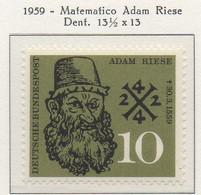 PIA - GERMANIA - 1959  : 400° Anniversario Della Morte Del Matematico Adam Riese -   (Yv 179) - Nuovi