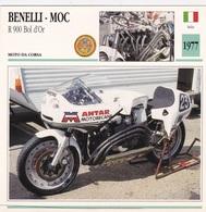 MOTO DA CORSA BENELLI MOC R 900 BOL D'OR ITALIA  1977 DESCRIZIONE COMPLETA SUL RETRO AUTENTICA 100% - Advertising
