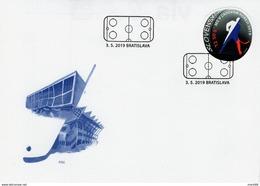 Slovaquie 2019 FDC ICE HOCKEY SUR GLACE Championnat Du Monde Bratislava Kosice - FDC
