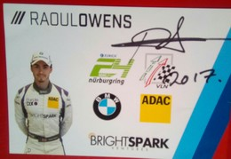 Raoul Owens - Authographs