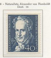 PIA - GERMANIA - 1959  : 100° Anniversario Della Morte Del Naturalista Alexander Von Humboldt  -   (Yv 180) - Nuovi
