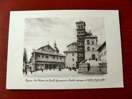 (FG.W41) ROMA - LA CHIESA DEI SANTI GIOVANNI E PAOLO (Disegno Di Antonio Carbonati) NV - Pittura & Quadri