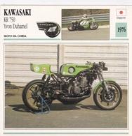 MOTO DA CORSA KAWASAKI KR 750 YVON DUHAMEL GIAPPONE 1976 DESCRIZIONE COMPLETA SUL RETRO AUTENTICA 100% - Advertising