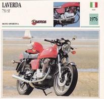 MOTO SPORTIVA LAVERDA 750 SF ITALIA  1976 DESCRIZIONE COMPLETA SUL RETRO AUTENTICA 100% - Advertising