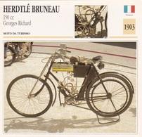MOTO DA TURISMO HERDTLE BRUNEAU 150 CC GEORGES RICHARD  FRANCIA 1903 DESCRIZIONE COMPLETA SUL RETRO AUTENTICA 100% - Advertising