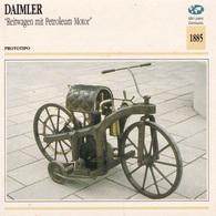 PROTOTIPO DAIMLER REITWAGEN MIT PETROLEUM MOTOR ALTRI PAESI GERMANIA 1885 DESCRIZIONE COMPLETA SUL RETRO AUTENTICA 100% - Advertising