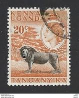 Uganda, 1954, Mi.-Nr. 95, Gestempelt - Kenya, Uganda & Tanganyika