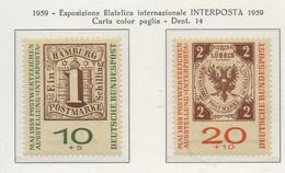 """PIA - GERMANIA - 1959 - Esposizione Filatelica Internazionale """"INTERPOSTA 1959""""   - (Yv 181-82) - Nuovi"""