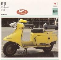 SCOOTER FUJI 125 RABBIT S 301 GIAPPONE 1968 DESCRIZIONE COMPLETA SUL RETRO AUTENTICA 100% - Advertising