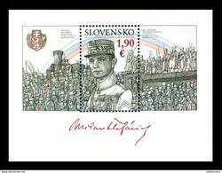 Slovaquie 2019 BF Centenaire De Milan R STEFANIK Et Des Légions Tchécoslovaques - Blokken & Velletjes