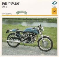 MOTO SPORTIVA EGLI VINCENT 1000 CC ALTRI PAESI SVIZZERA 1967 DESCRIZIONE COMPLETA SUL RETRO AUTENTICA 100% - Publicidad