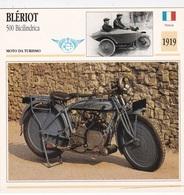 MOTO DA TURISMO BLERIOT 500 BICILINDRICA FRANCIA 1919 DESCRIZIONE COMPLETA SUL RETRO AUTENTICA 100% - Advertising