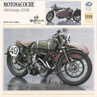 MOTO DA CORSA MOTOSACOCHE 1000 PROTOTIPO 2C9 BS ALTRI PAESI SVIZZERA 1918 DESCRIZIONE COMPLETA SUL RETRO AUTENTICA 100% - Advertising