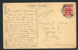 Palestine - Affranchissement De Jérusalem Sur Carte Postale Pour La France En 1923 -  Réf J149 - Palästina