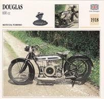 MOTO DA TURISMO DOUGLAS 600 CC GRAN BRETAGNA  1918 DESCRIZIONE COMPLETA SUL RETRO AUTENTICA 100% - Advertising