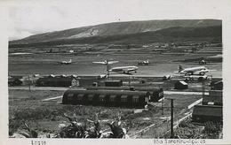 Real Photo Lagos Azores Airport US Army Airplanes  US Army Postal Service A.P.O. 406  1951 - Aerodromes