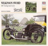 MOTO DA TURISMO WILKINSON SWORD 680 TOURING AUTO CYCLE GRAN BRETAGNA 1909 DESCRIZIONE COMPLETA SUL RETRO AUTENTICA 100% - Advertising