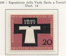 PIA - GERMANIA - 1959  : Esposizione Della Veste Santa A Treviri   -   (Yv 186) - Nuovi