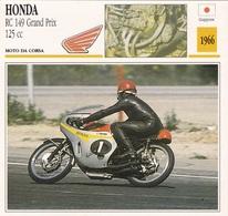 MOTO DA CORSA HONDA RC 149 GRAND PRIX 125 CC GIAPPONE 1966 DESCRIZIONE COMPLETA SUL RETRO AUTENTICA 100% - Advertising