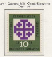 PIA - GERMANIA - 1959  : Giornata Della Chiesa Evangelica  -   (Yv 187) - Nuovi
