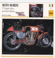 MOTO DA CORSA MOTO MORINI 175 DOPPIO ALBERO JEAN P. BELTOISE ITALIA 1964 DESCRIZIONE COMPLETA SUL RETRO AUTENTICA 100% - Advertising