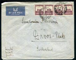 Palestine - Enveloppe De Jérusalem Pour La Suisse En 1938 , Affranchissement Plaisant -  Réf J153 - Palästina