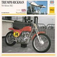 FUORISTRADA TRIUMPH RICKMAN 500 METISSE MK3 GRAN BRETAGNA  1963 DESCRIZIONE COMPLETA SUL RETRO AUTENTICA 100% - Advertising