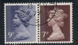 GB 1978 Machin 9p Bluish Violet 2B, 7p Chocolate 2B FU - 1952-.... (Elizabeth II)