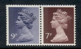 GB 1978 Machin 9p Bluish Violet 2B, 7p Chocolate 2B MUH - 1952-.... (Elizabeth II)