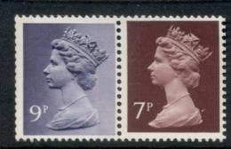 GB 1978 Machin 9p Bluish Violet 2B, 7p Chocolate LB MUH - 1952-.... (Elizabeth II)