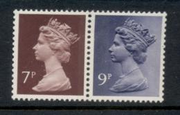 GB 1978 Machin 9p Bluish Violet 2B, 7p Chocolate RB MUH - 1952-.... (Elizabeth II)