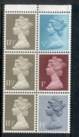 GB 1981 Machin 0.5p Turquoise Blue 2B, 1p Crimson 2B, 11.5px3 Drab BR, 14pgrey Blue 2B Booklet Pane MUH - 1952-.... (Elizabeth II)